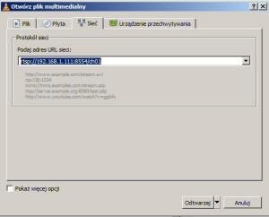 Dodawanie strumienia RTSP z wideodomofonu IP do odtwarzacza VLC